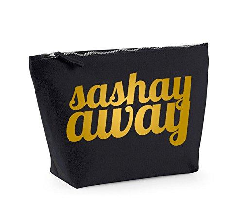 and Gold Accessory Bag Make Away Cosmetics Up Sashay Organiser Black 61pqP