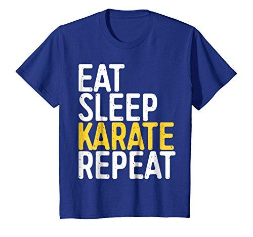 Eat Sleep Karate Repeat T-Shirt Funny Sport Gift Shirt