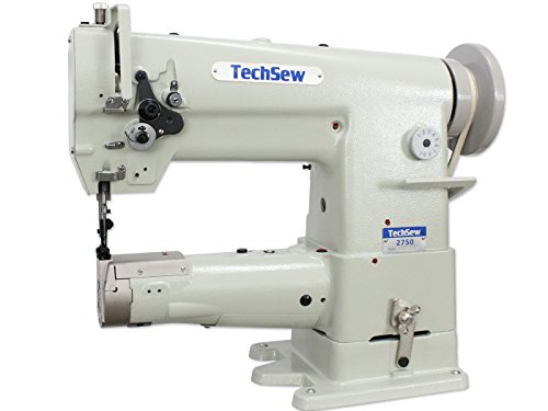 TechSew 2750 Cylinder Walking Foot Industrial Sewing Machine with Assembled Table & Servo Motor