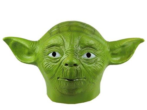 Gmask Latex Star Wars Master Green Yoda Mask (Yoda Costume Adults)