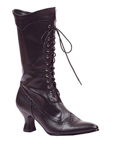 Schwarze Hexenstiefel als Kostümschuhe für Halloween 38