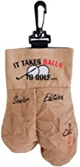 Get a great laugh with this high quality, uniquely shaped Golf Ball Storage Sack from MySack. Comes with two Free Golf Ball, and is guaranteed to make him smile.