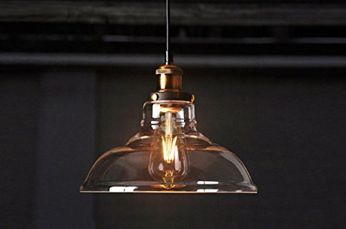 Feven vintage lighting industrial style edison 1 light glass shade feven vintage lighting industrial style edison 1 light glass shade ceiling light pendant lamp fixture mozeypictures Gallery