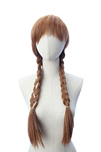 Brown Double Braided Wig Cosplay Party Princess Inspired Wig