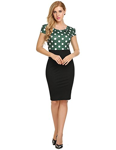 high waisted pencil dress - 2