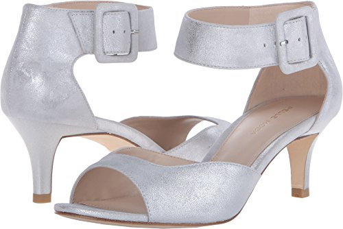 Suede Silver Metallic Women's Berlin SU Dress Pump Pelle Moda Kid zaqRWA