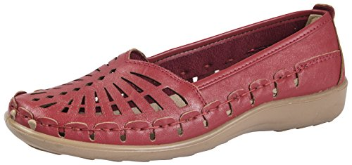 LD Outlet - brogue mujer Red
