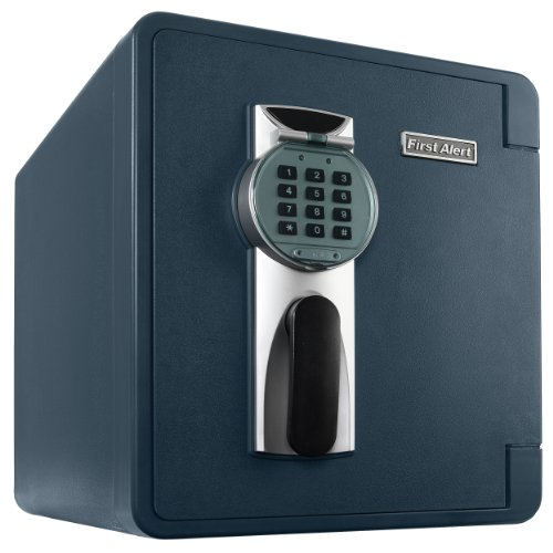 0.94' Handle - First Alert 2087DF Waterproof 1 Hour Fire Safe with Digital Lock, 0.94 Cubic Foot, Gray