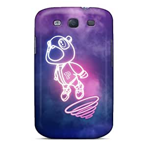 Bumper Hard Phone Covers For Samsung Galaxy S3 With Unique Design Beautiful Minimin2 Kanye West Bear Series DeanHubley