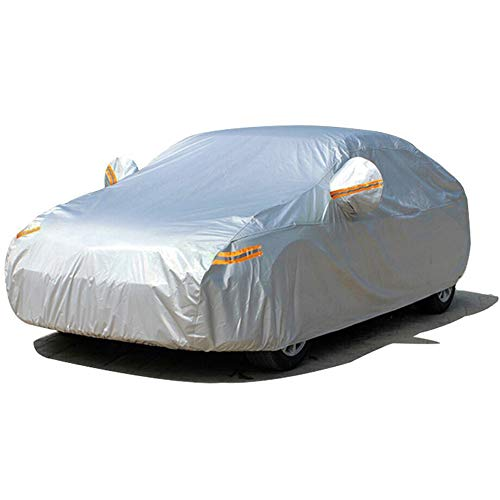 SEAZEN Car Cover Waterproof All Weather,Full car Covers UV Protection/Snowproof/Dustproof,Universal car Cover 2 Layer with Zipper, (Fit Sedan-Length Up to 200