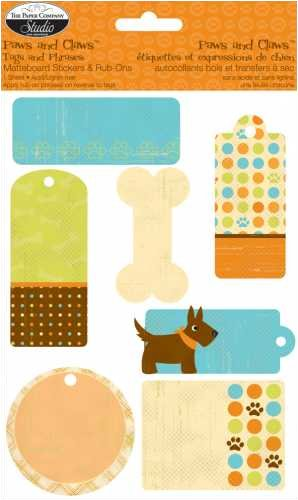 Paws & Claws Matteboard Stickers & Rub-Ons: Dog Tags & Phrases