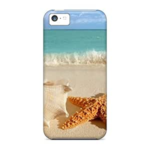 meilz aiaiNew Hard Cases Premium Iphone 5c Skin Cases Covers(big Sea Shells On The Beach)meilz aiai