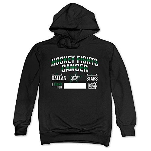 Dallas Stars Shield - JUST Men's 2016 Hockey Fights Cancer Dallas Stars Hooded Sweatshirt Black