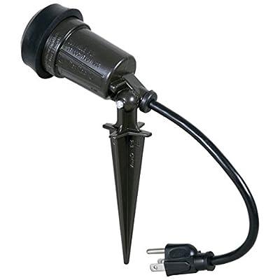 Hubbell-Bell SL101B Weatherproof Traditional/Cfl Uses Par 38 Bulb 150-watt Max Portable Spike Light, Bronze