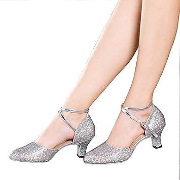 ShangYi Non Customizable Women's Dance Shoes Modern Sparkling Glitter/Paillette Cuban Heel More Colors , black-us7.5 / eu38 / uk5.5 / cn38 , black-us7.5 / eu38 / uk5.5 / cn38