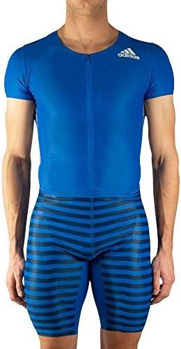 adidas Herren Sprintanzug Adizero Short Sleeve Blau