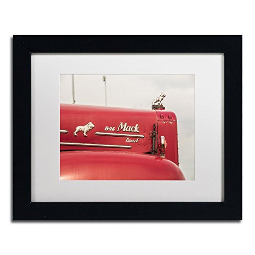 (Mack Truck 2 by Jason Shaffer, White Matte, Black Frame 11x14-Inch )