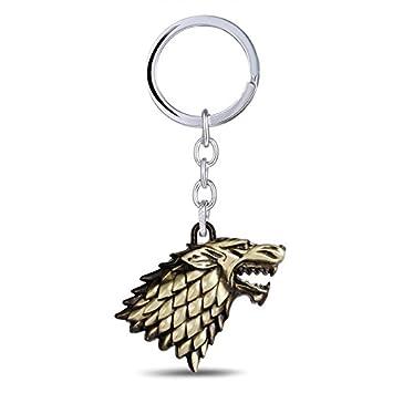 Inspired charms llavero House Sigils Stark Direwolf ...
