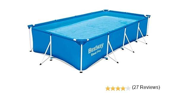 Bestway 56405 Marco de Acero, Azul, 400 x 211 x 81 cm: Amazon.es ...