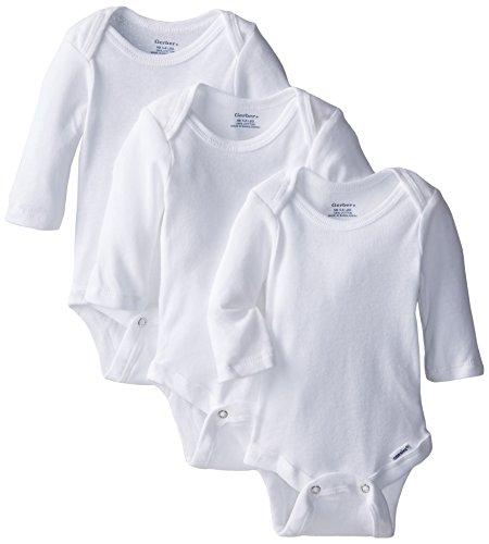 Gerber Baby Girls' 3 Pack Long Sleeve Onesies
