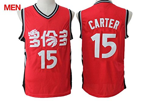 Mens Brand New 2016 Chinese Version Jersey, Toronto Raptors #15 Vince Carter Red S