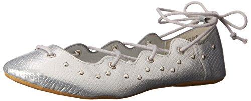 Wanted' Women's Jamie Ballet Flat, Black, 6 M US Silver