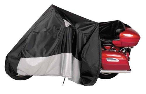 -00 WeatherAll Plus Indoor/Outdoor Waterproof Motorcycle Cover, EZ Zip: Black, XXX-Large ()