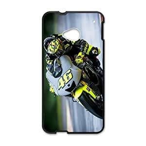 Personality customization TPU Case with Valentino Rossi HTC One M7 Cell Phone Case Black