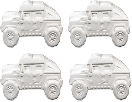New Hampshire Craftworks Super Humvee Truck - Set of 4 - Host Your Own Ceramic Painting Party made in New England