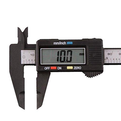 150mm/6inch LCD Digital Caliper, Bolayu Electronic Carbon Fiber Vernier Caliper Micrometer (Best Digital Caliper 2019)