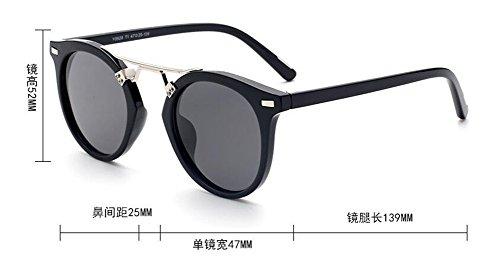 vintage Lennon style inspirées en du Frêne polarisées cercle rond Noir soleil métallique retro lunettes de wxqUgU0A