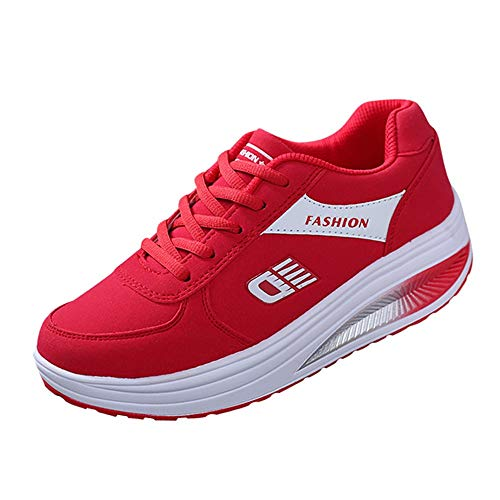 TUU Women Heightening Soft Bottom Rocking Shoes Tennis Sneakers Student Platform Runing Shoe