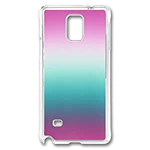 VUTTOO Rugged Samsung Galaxy Note 4 Case, Pink and Blue Gradient PC Plastic Hard Case Cover for Samsung Galaxy Note 4 N9100 PC Transparent