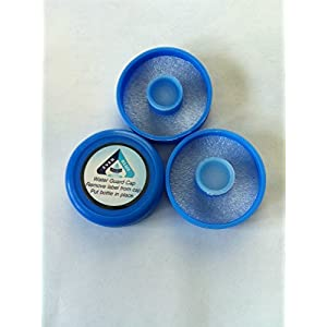 (Bag of 3) No spill reusable crown top water bottle push caps 55 mm