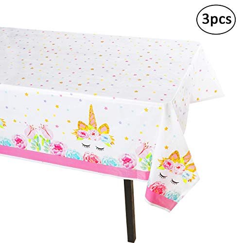 (Unicorn Tablecloth - 3 Pack - Large Size(54