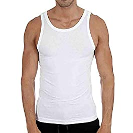 6 X Pack Mens Vests 100% Cotton Tank TOP Training Gym Tops Pack Plain Colored