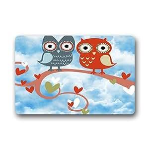 """Custom Owl Doormat Outdoor Indoor 23.6""""x15.7"""" about 59.9cmx39.8cm"""