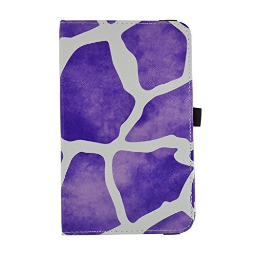 "RCA 7 VOYAGER II Rotating Case,Mama Mouth 360 Degree Rotary Stand With Cute Lovely Pattern Cover For 7"" RCA 7 VOYAGER II RCT6773W22 2015 Model Tablet,Giraffe Purple"