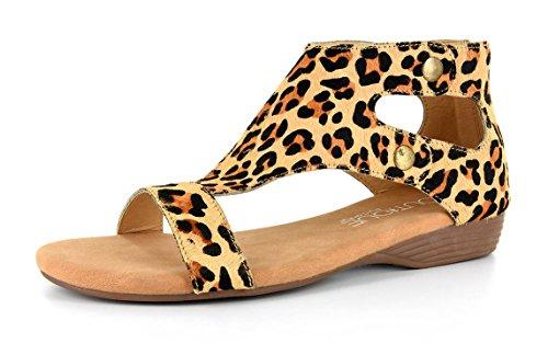Corkys Footwear Femme Dames Sandales Imprimé Animal Léopard