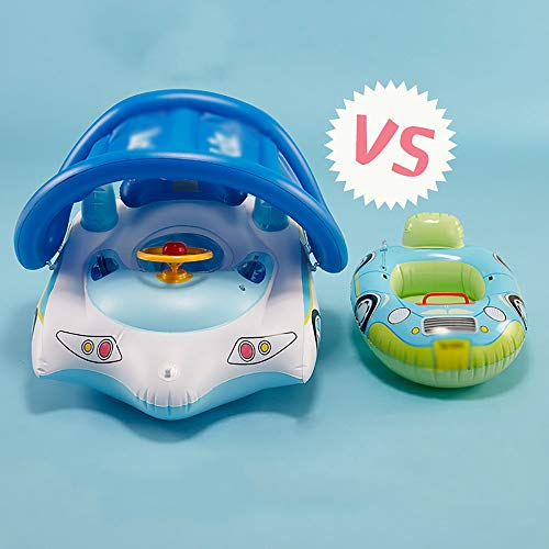 QJJML Children's Swim Ring, Newborn Baby Sitting Circle Car Swimming Boat Shade Floating Boat by QJJML (Image #3)