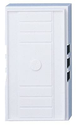 Westinghouse 7601100 Traditional Wired Door Chime, White