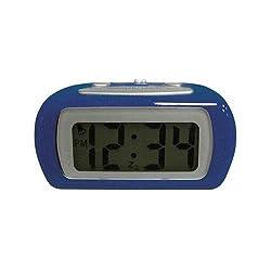 Geneva 6108AT Blue LCD Alarm Clock - Digital - Quartz (Geneva6108AT )