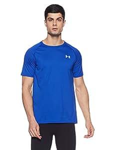 Under Armour Men's Tech Short Sleeve T-Shirt, Royal /White, X-Small
