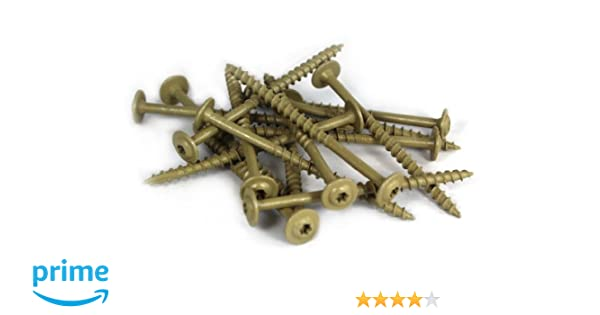 1-Pound Net Weight 160-Piece T20 WoodPro Fasteners AP8X2-1 Number-8 by 2-Inch All Purpose Wood Construction Screws