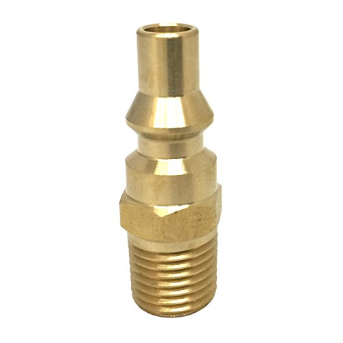 KIBOW Propane Quick Connect Fitting-Full Flow Male Plug with 1/4 Inch Male NPT Thread ()