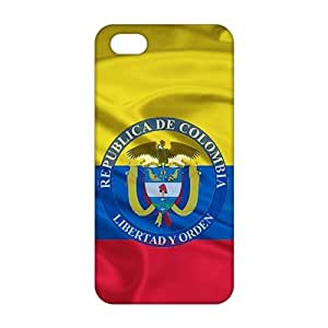 2015 Ultra Thin 3D Case Cover bandera de colombia 3d Phone Case for iPhone 5s