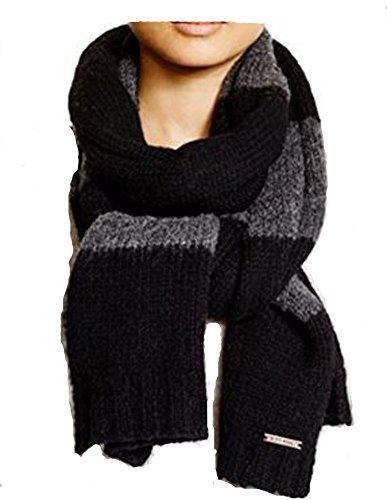 - Michael Kors 100% Wool Stripe Scarf, Navy/Pearl Grey