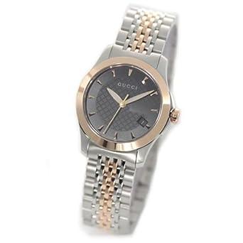 c92f10972313 [グッチ]GUCCI 腕時計 G-タイムレス コレクション ブラック×シルバー×ピンクゴールド YA126512