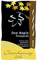 2012 One Maple Winery Chardonnay 750 mL