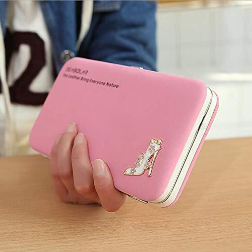 Spalla Borse Pu Pochette Da rosso Borsa Borsetta Rosa Fucsia Mano Sacchetta fiore Donna Jsxl A Pink fiocchi Piega Portafoglio 5CxawAq